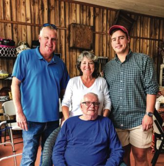 Cam and Cindy Stone operate Breeden's Quality Meats. Their son, Hayden, grew up working in the store. John Thompson, Cam's grandfather, front, owned the store before the Stones.