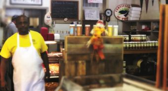 Freddie, the unofficial sausage engineer, is a familiar face to regular customers.