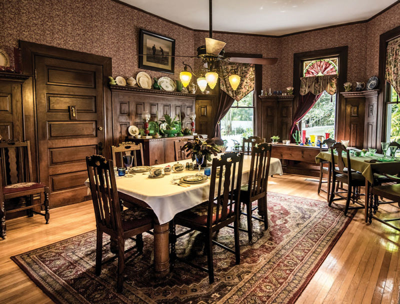 A dining room at the Bed and Breakfast